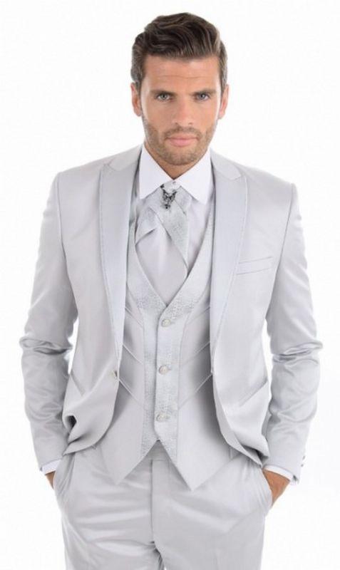costume de mariage 3 pièces. Gimel Odila 2016 gris clair.