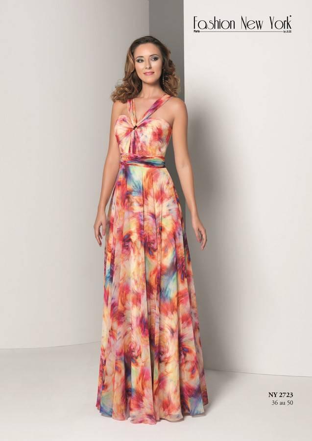 b83e5493fa6 robe longue de cérémonie imprimée - Vente robes de mariée et ...