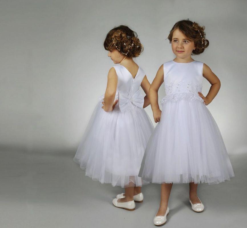 robe demoiselle d 39 honneur enfant en tulle robe de mari e. Black Bedroom Furniture Sets. Home Design Ideas